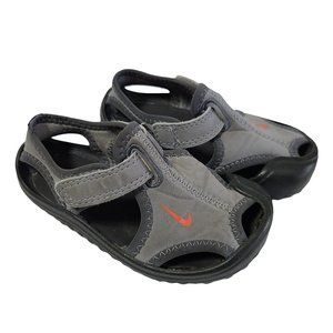 NIKE Gray Neoprene Sandals 5